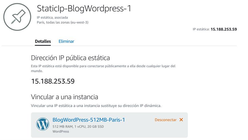 Asignación IP estática