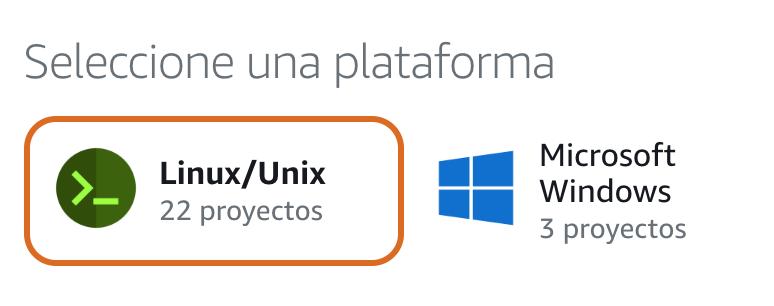 Selecciona Linux como plataforma